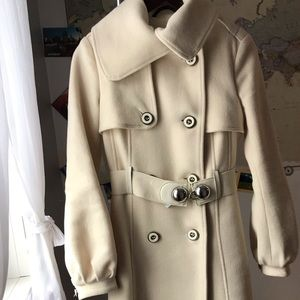 Mackage White Wool Coat